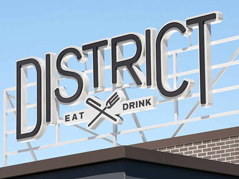 oakbrook center restaurants il. district eat/drink sign oakbrook center restaurants il