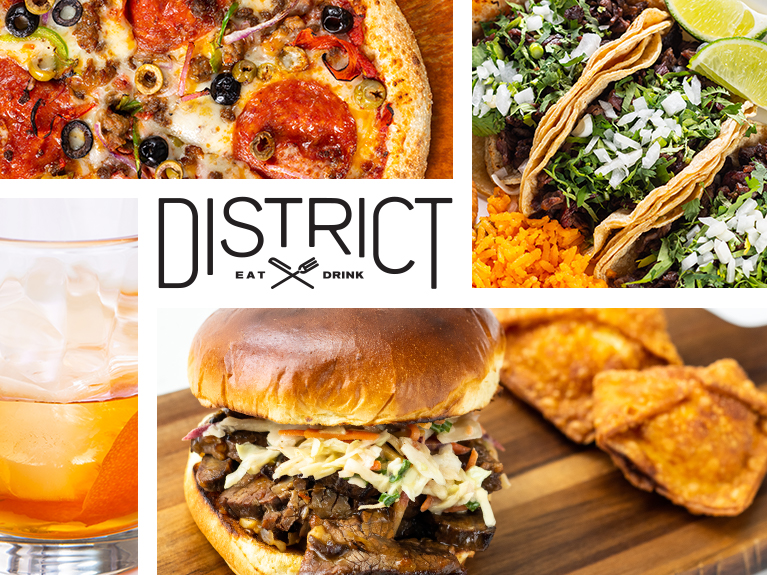 District Eat/Drink sign